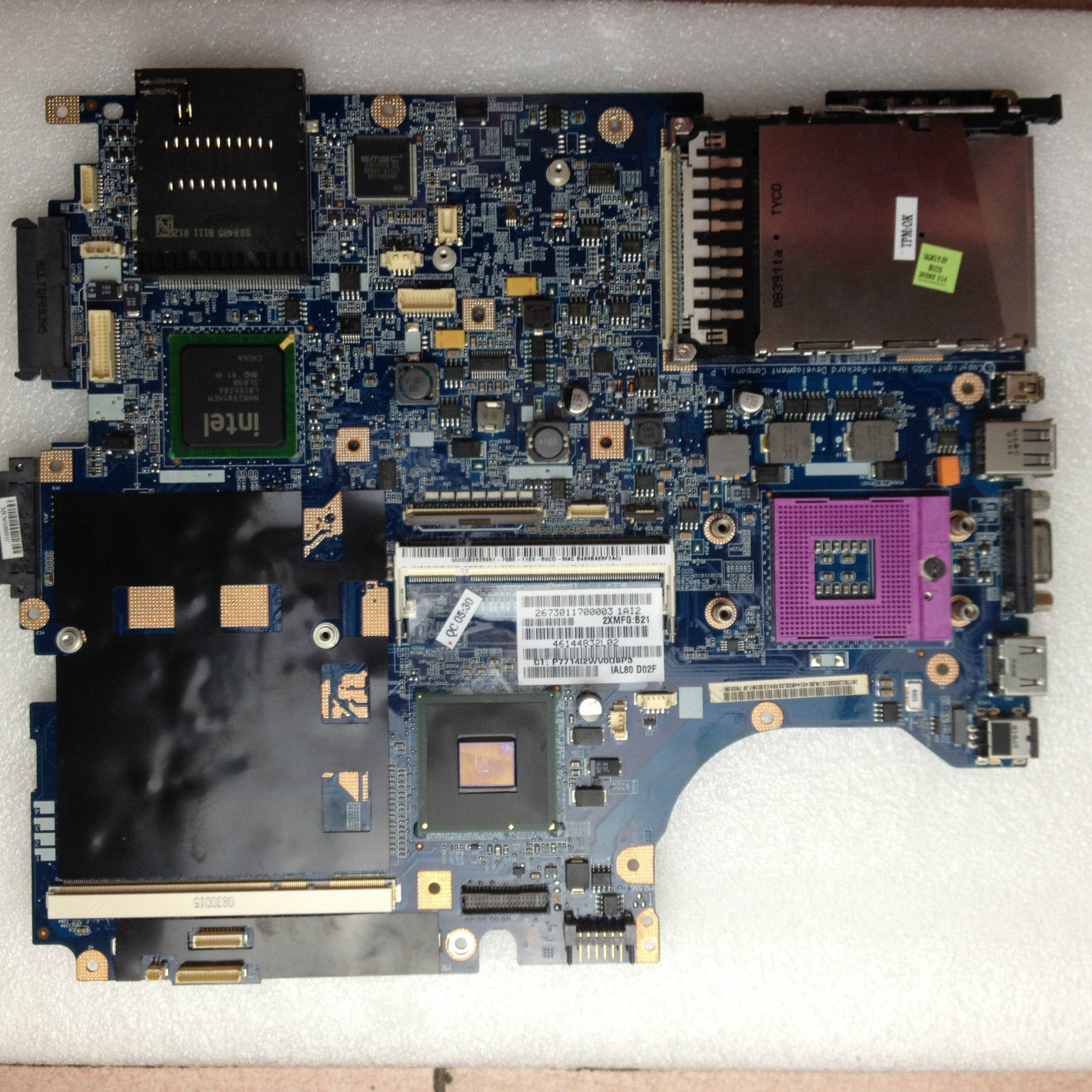 for hp compaq 8710p 8710w series intel motherboard 450482-001  450482-001