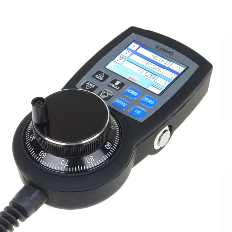 NVMPG CNC 6 Axis MPG Manual Pulse Generator with Handwheel & LCD for NVEM/NVUM V2 version